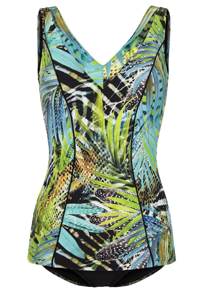 Felina Badeanzug mit Schale 5201299 Green Fig black jungle