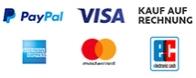 Mit PayPal Plus sicher mit Ihrer Kreditkarte, per Lastschrift oder auf Rechnung bezahlen